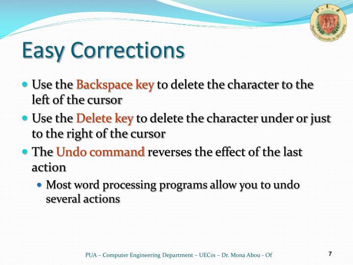 Easy Corrections
