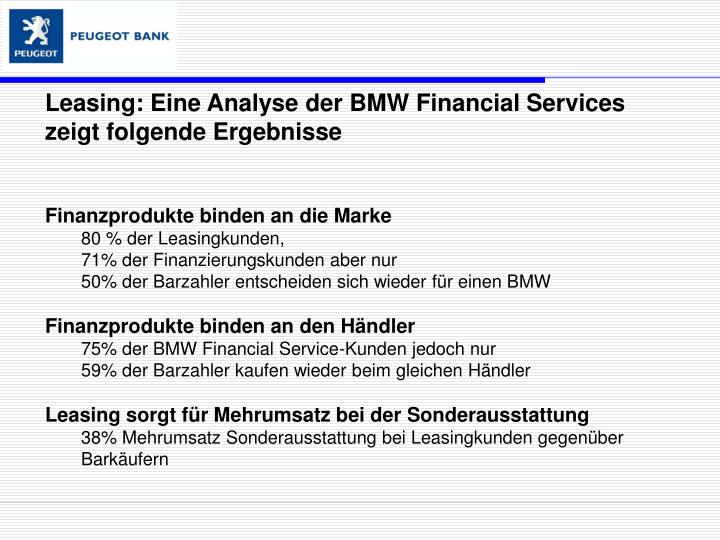 Leasing: Eine Analyse der BMW Financial Services