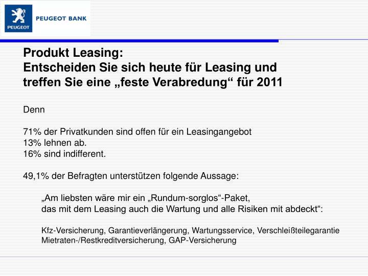 Produkt Leasing: