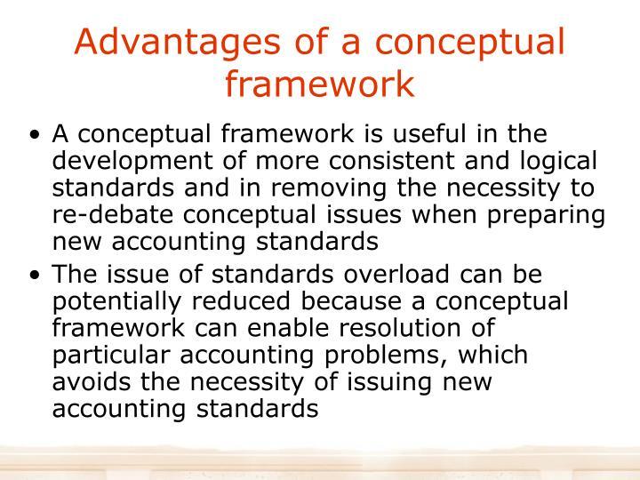 Advantages of a conceptual framework