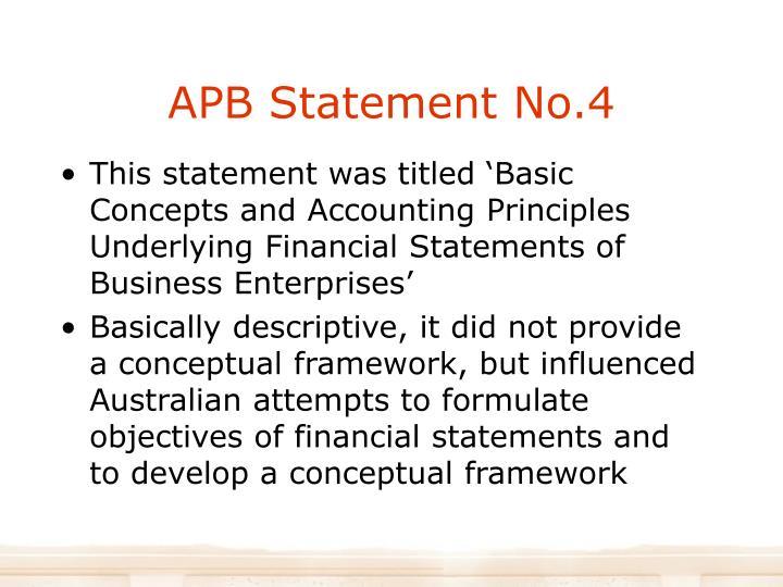 APB Statement No.4