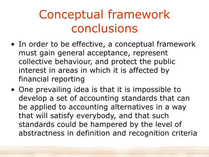 Conceptual framework conclusions