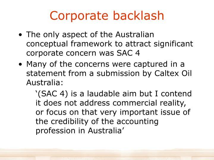 Corporate backlash