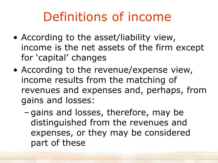 Definitions of income