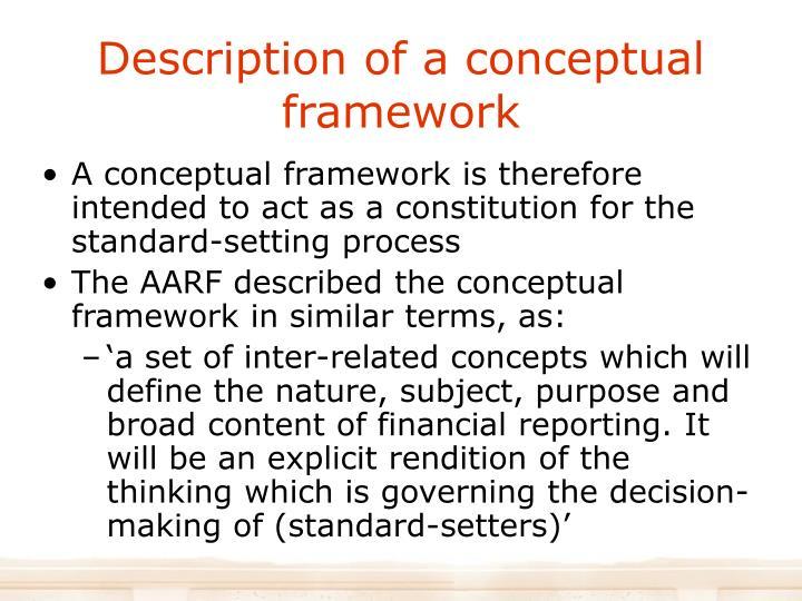 Description of a conceptual framework