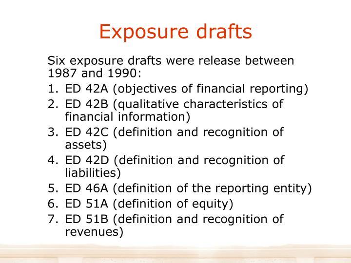 Exposure drafts
