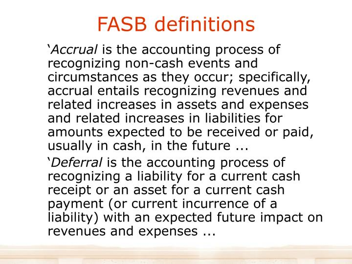 FASB definitions