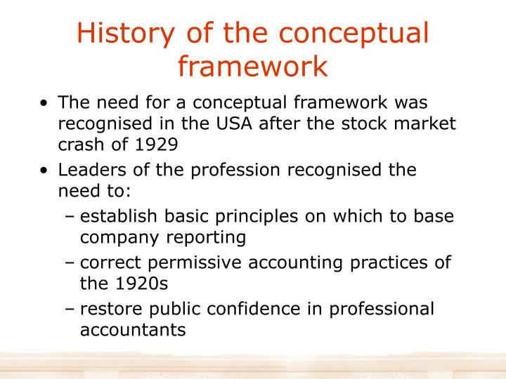 History of the conceptual framework