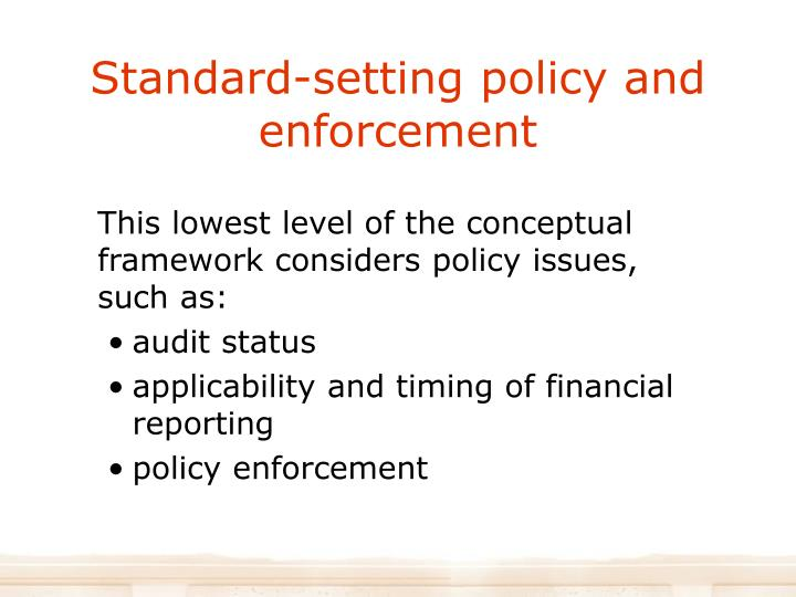 Standard-setting policy and enforcement