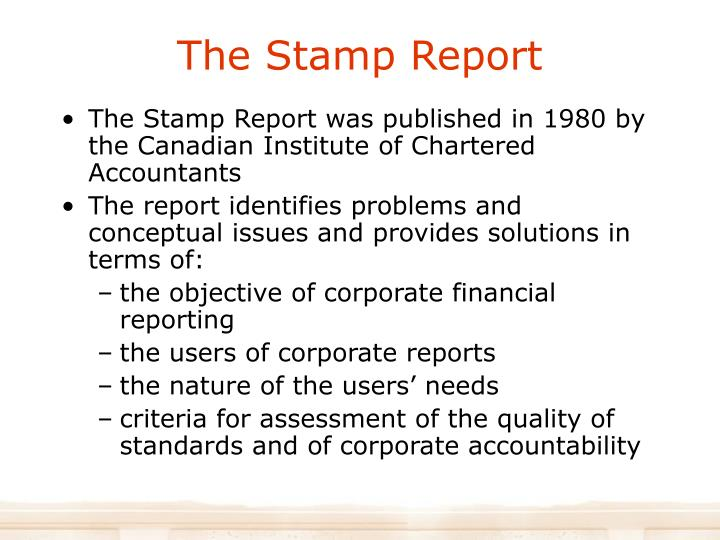 The Stamp Report