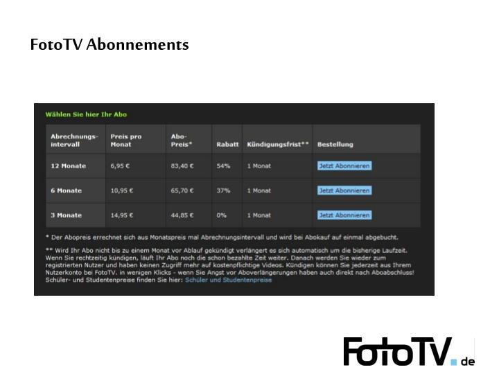 FotoTV Abonnements