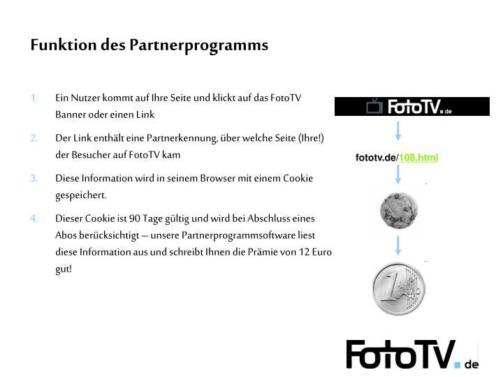 Funktion des Partnerprogramms