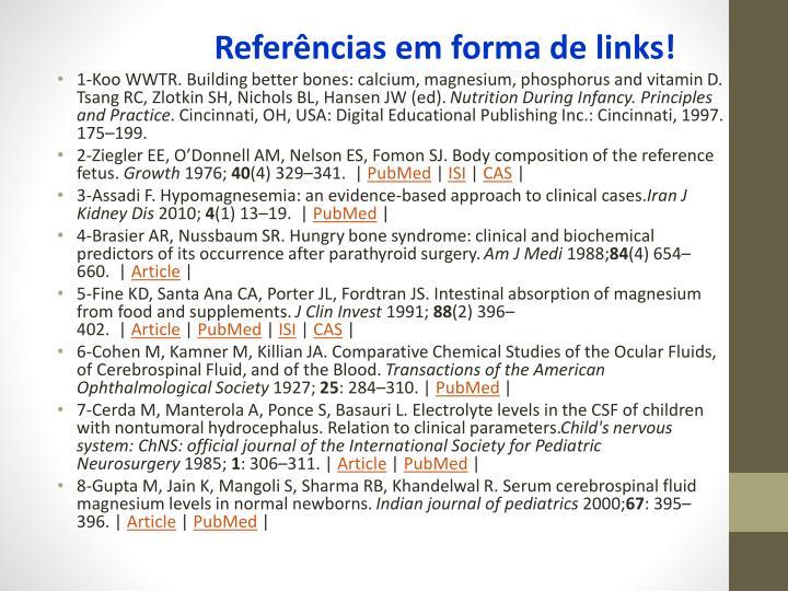 Referências em forma de links!