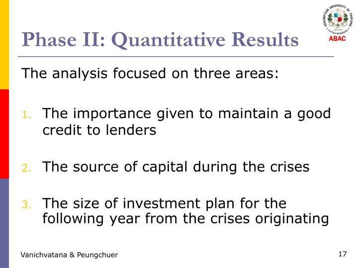 Phase II: Quantitative Results