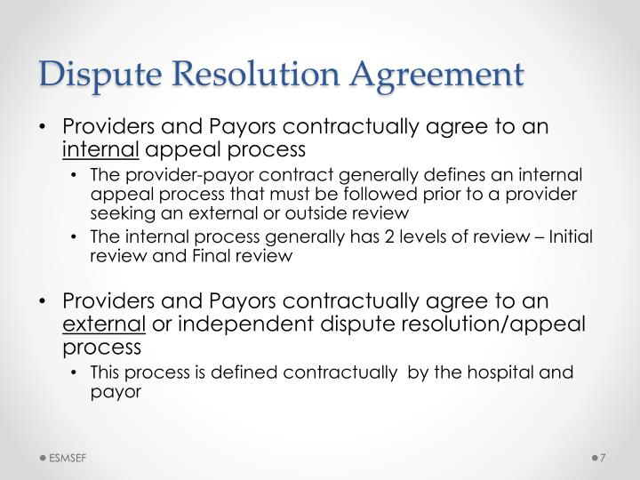 Dispute Resolution Agreement