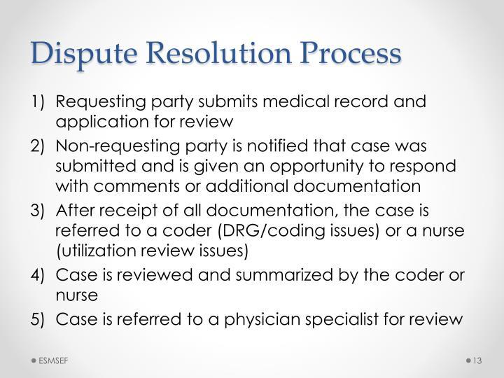 Dispute Resolution Process