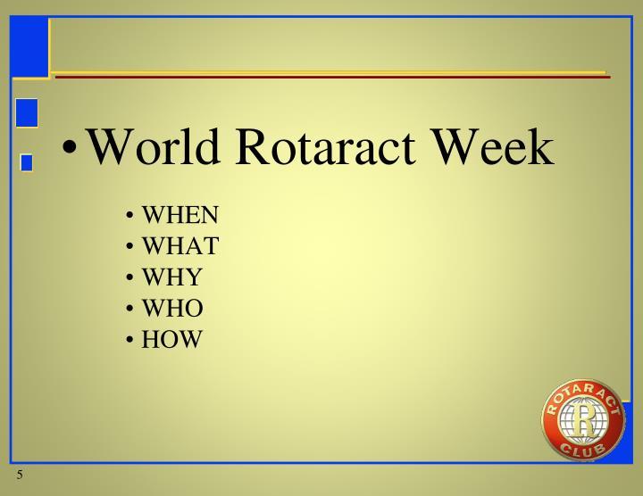 World Rotaract Week