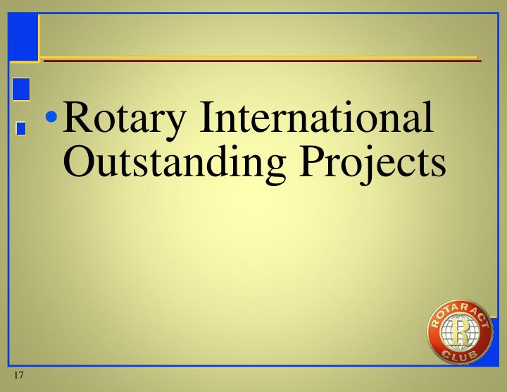Rotary International Outstanding Projects