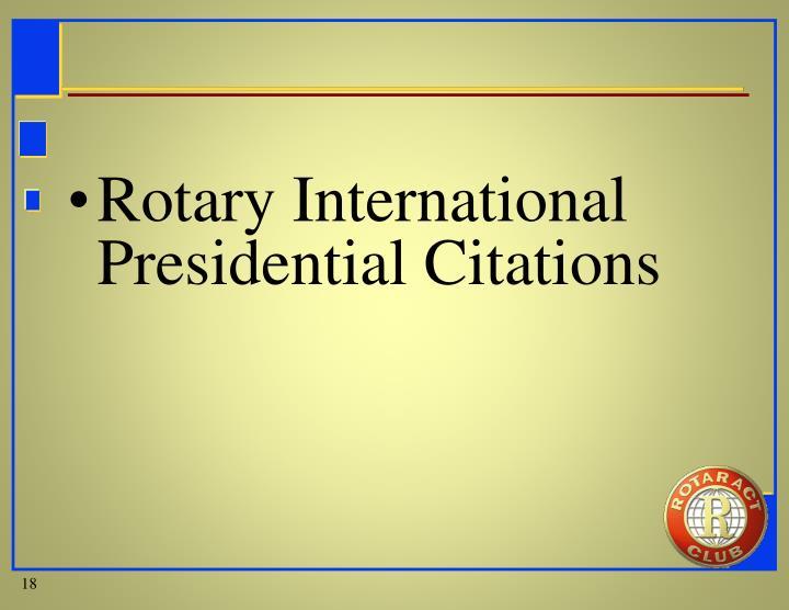 Rotary International Presidential Citations