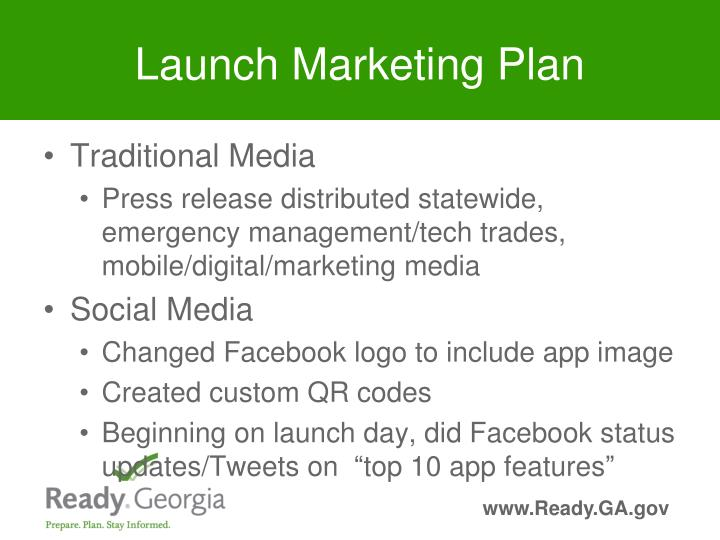 Launch Marketing Plan