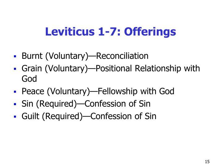 Leviticus 1-7: Offerings