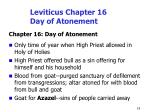 leviticus chapter 16 day of atonement
