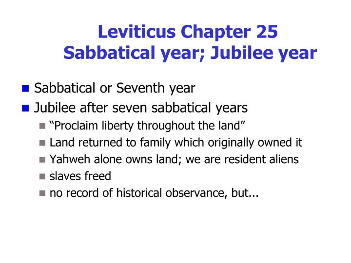 Leviticus Chapter 25