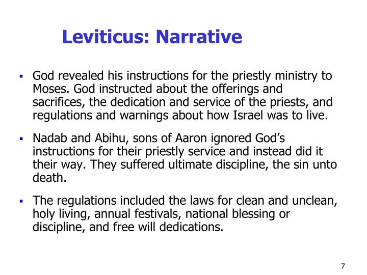 Leviticus: Narrative