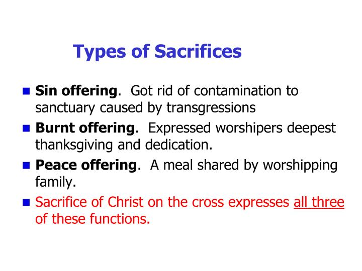 Types of Sacrifices