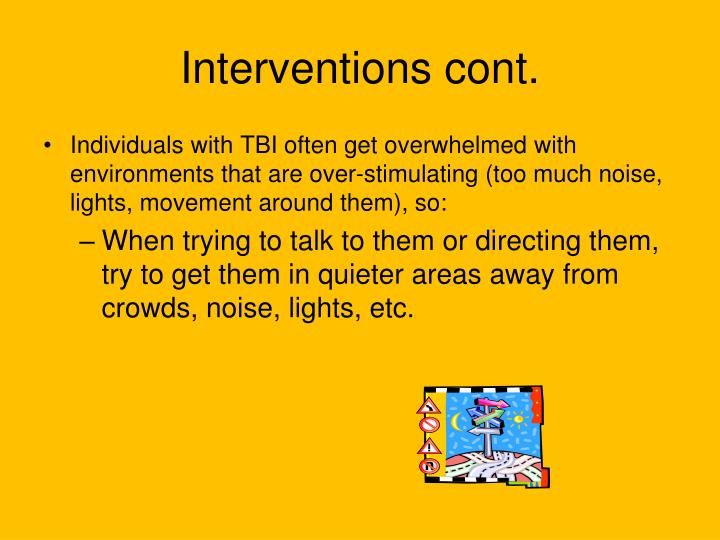 Interventions cont.