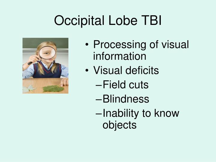 Occipital Lobe TBI