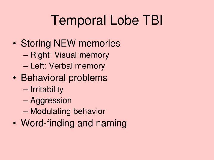 Temporal Lobe TBI