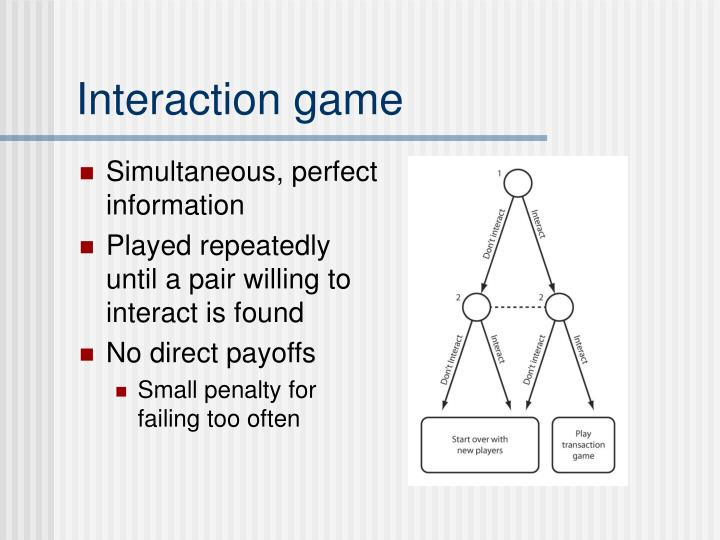 Interaction game