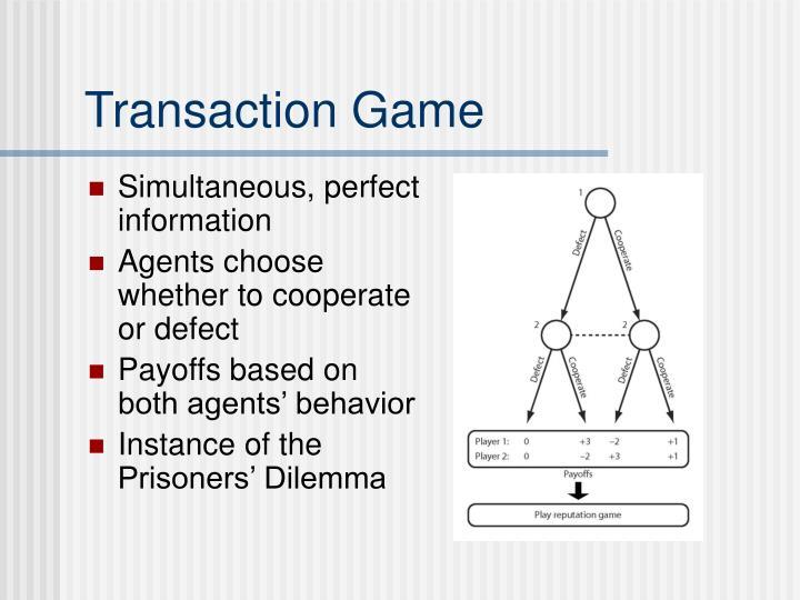 Transaction Game