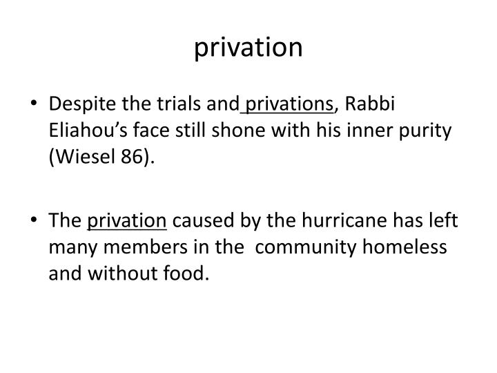 Privation