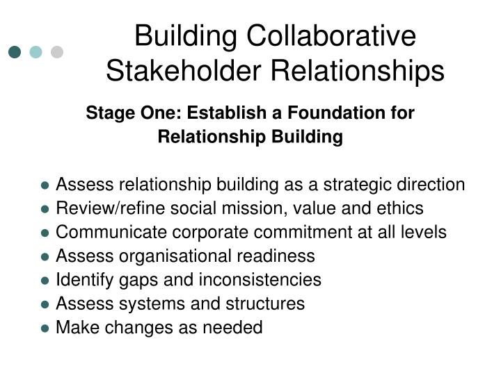 Building Collaborative Stakeholder Relationships