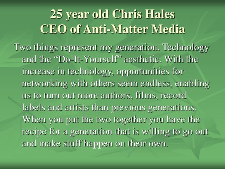 25 year old Chris Hales