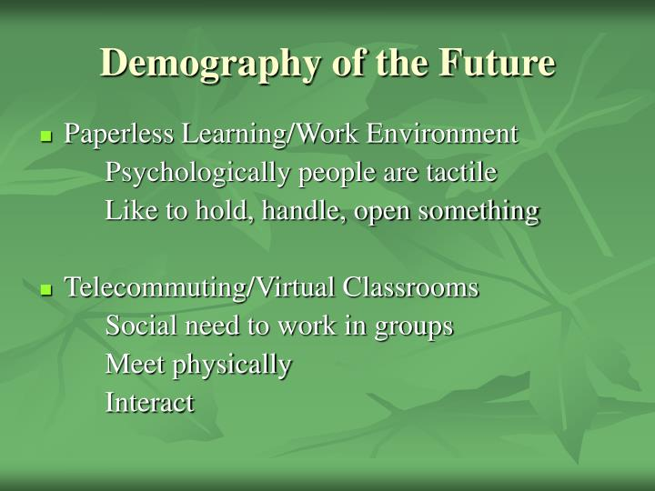 Demography of the Future