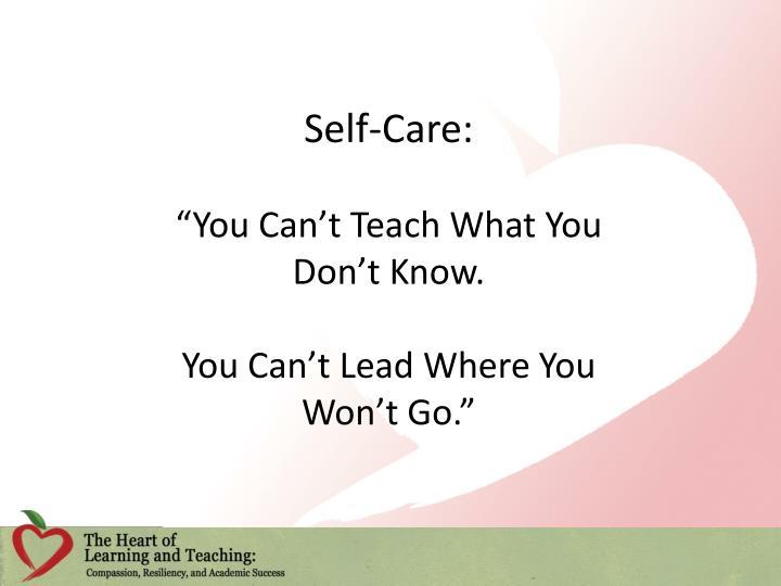 Self-Care: