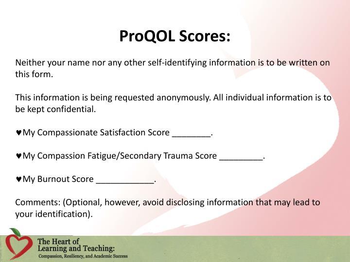 ProQOL Scores: