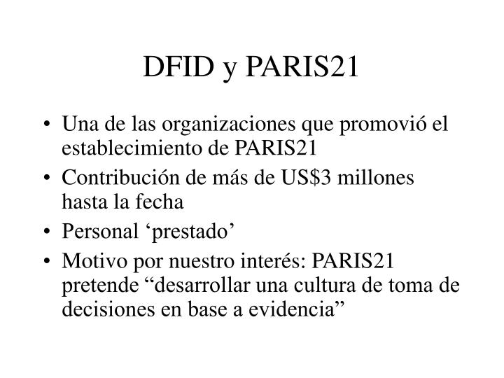 Dfid y paris21