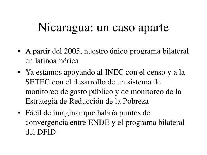 Nicaragua: un caso aparte