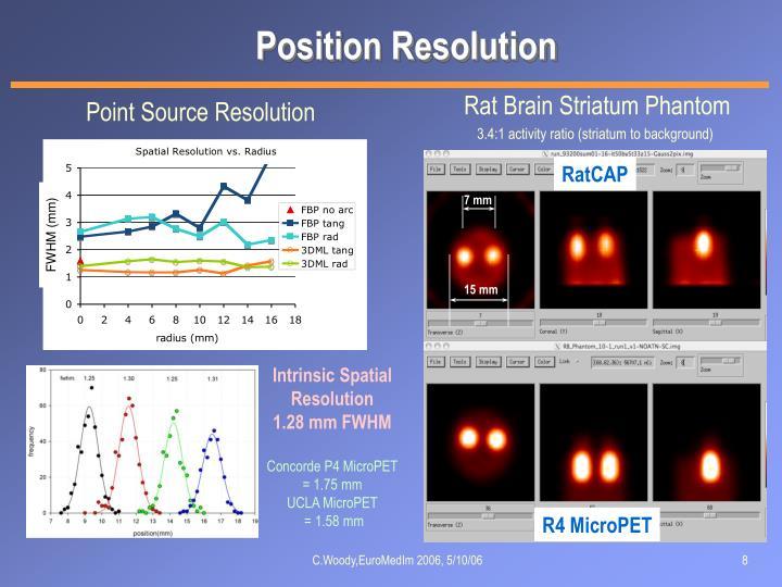 Position Resolution