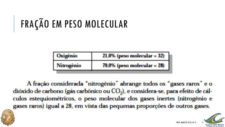 Fração em peso molecular