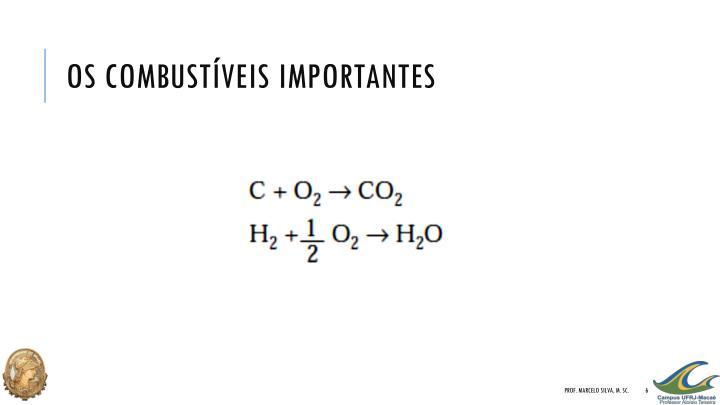 Os combustíveis importantes