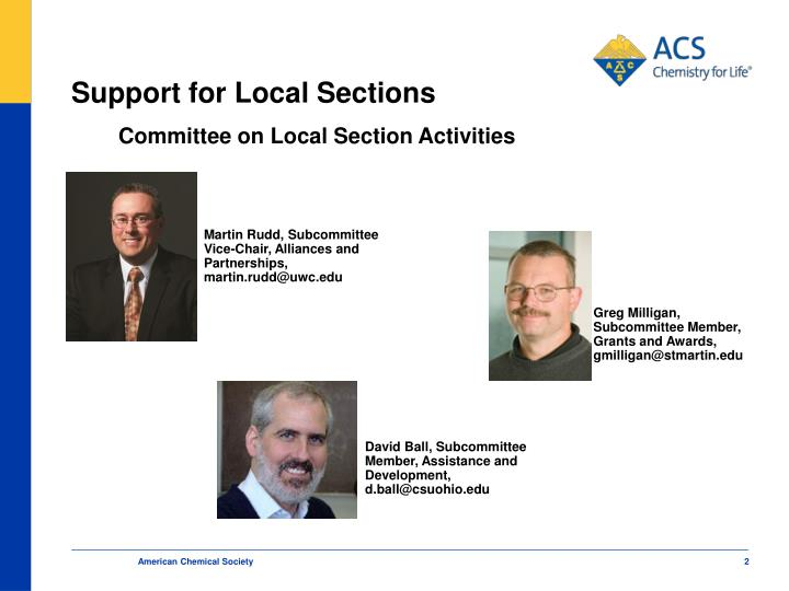 Support for local sections1