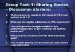 group task 1 sharing stories discussion starters
