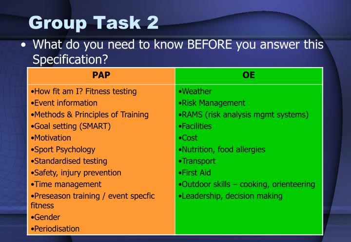 Group Task 2