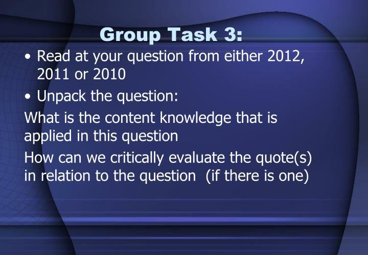 Group Task 3: