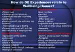 how do oe experiences relate to wellbeing hauora